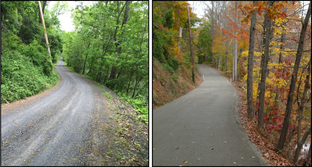 Approximately 2,300 linear feet of Church Road in Marlborough Township along the Unami Creek was regraded to improve drainage and received 1,143 tons of driving surface aggregate to improve the road surface and reduce erosion.