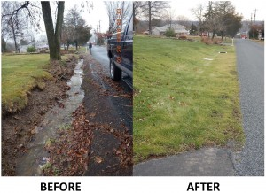Webber Rd Before and after 2