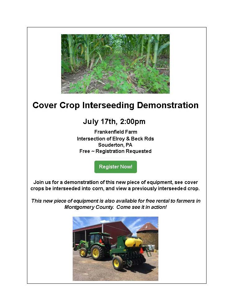 Interseeding Demonstration Field Day
